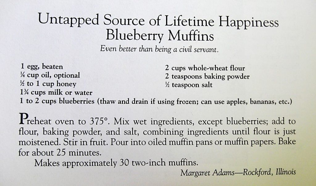 Untapped Source of Lifetime Happiness Blueberry Muffins- Auntie bee's