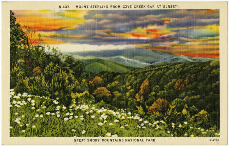Mount_Sterling_from_Cove_Creek_Gap_at_Sunset_Great_Smoky_Mountains_National_Park