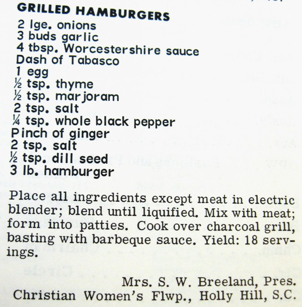 Grilled Hamburgers - Favorite Recipes of the Carolinas