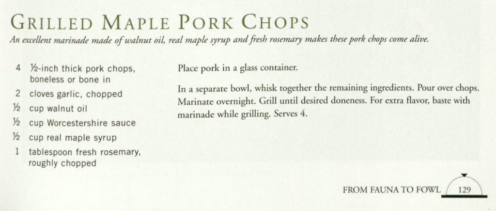 Grilled Maple Pork Chops-An Appetite for Art