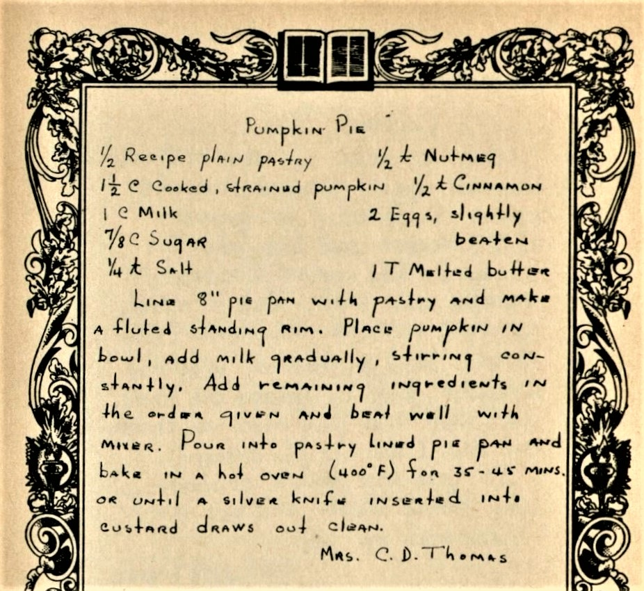pumpkin-pie-cook-book