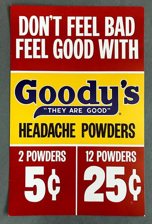 Goody's Headache Powders sign