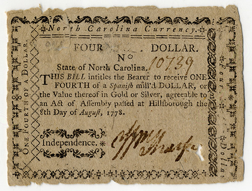 front of fraudulent note