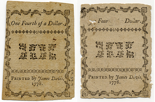 Unaltered note on left; fraudulent note on right.