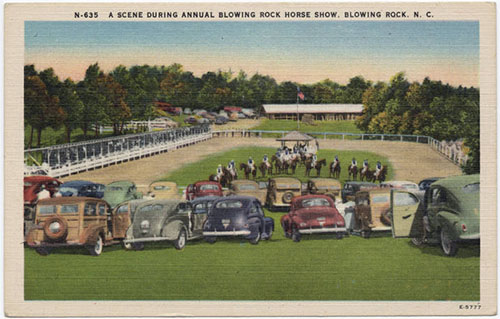 Scene During Annual Blowing Rock Horse Show