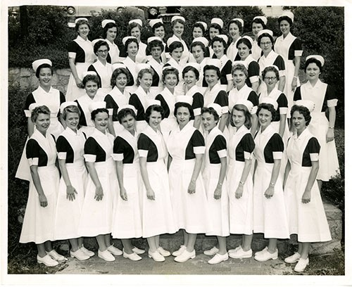 Photo of UNC Nursing students, 1959