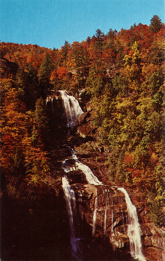 """Whitewater Falls in Autumn,"" post card published by W. M. Cline Co., Chattanooga, Tenn., date unknown."