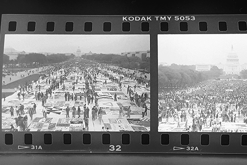 National Mall AIDS Quilt display, 1987