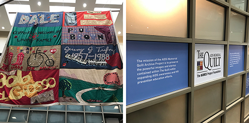 AIDS quilt panel display