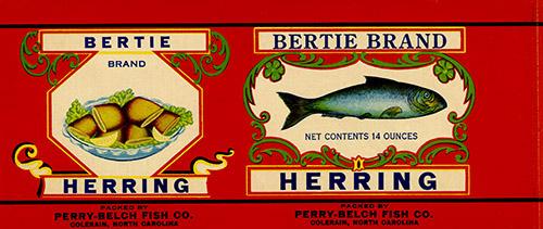 Bertie Brand Herring label