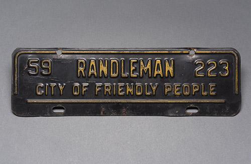 Randleman license plate