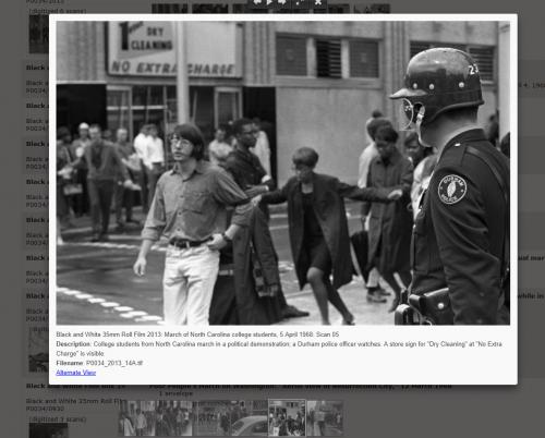 Barnes image of protestor grabbed by police