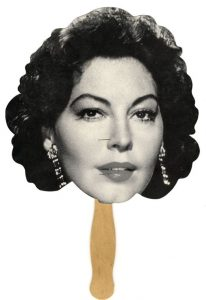 Hand fan with Ava Gardner's face