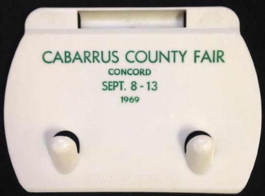 Cabarrus County Fair souvenir from 1969