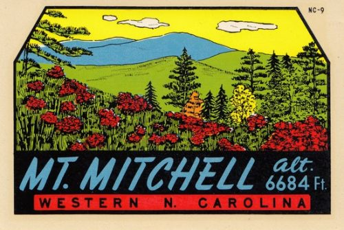 Mount Mitchell decal