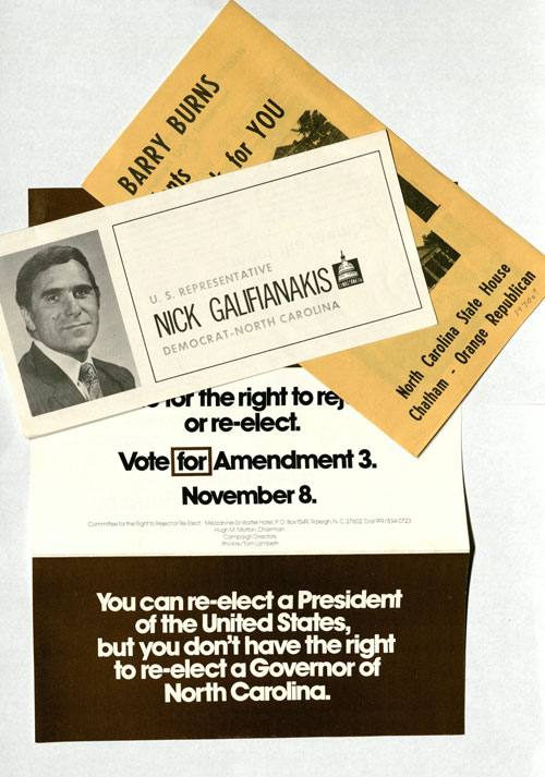 Campaign ephemera from 1970s