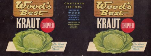 Wood's Best Kraut can label