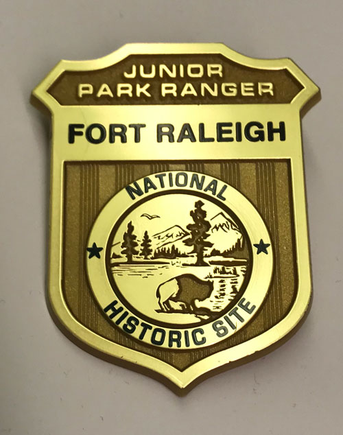 Junior Park Ranger badge for Fort Raleigh National Historic Site