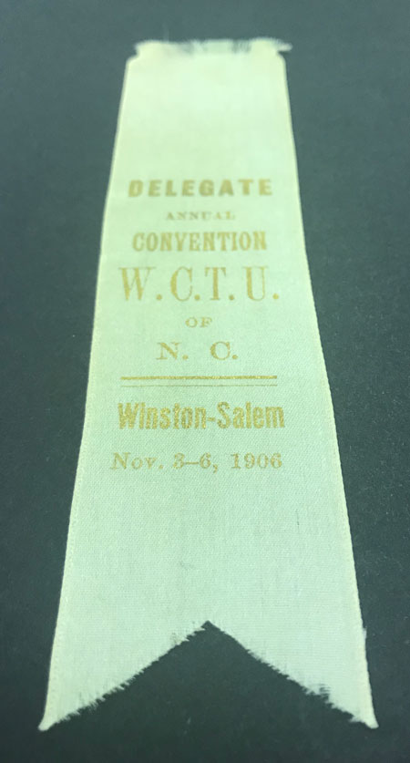 Ribbon for Woman's Christian Temperance Union