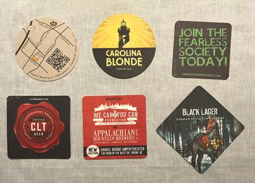 Six beer coasters