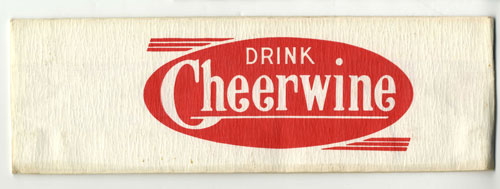 Paper soda jerk hat with Cheerwine logo