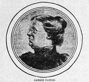 Portrait of Carrie Nation, temperance activist