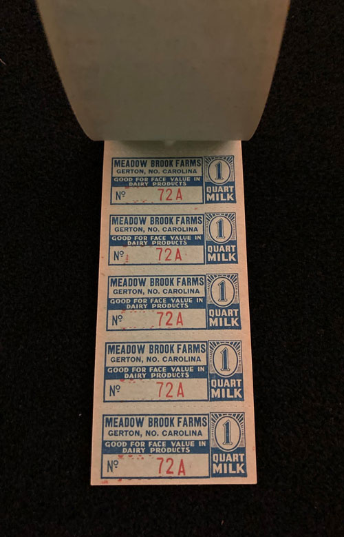 Image of a page of five coupons.