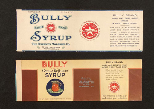 Bully Syrup packaging