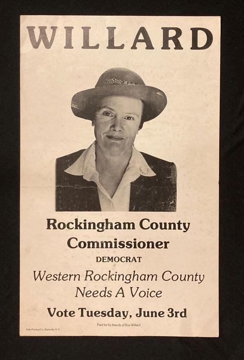 Rosalind Willard campaign poster