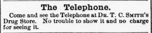 "Advertisement ""Come and see the telephone"""