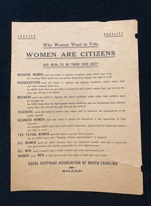 Broadside for women's suffrage