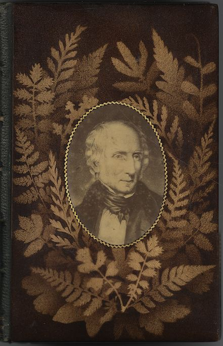 Mauchline fern ware binding on The Poetical Works of William Wordsworth (Edinburgh: William P. Nimmo ..., [between 1863 and 1873?] ) / Wordsworth PR5850 .E63 1863d c. 21