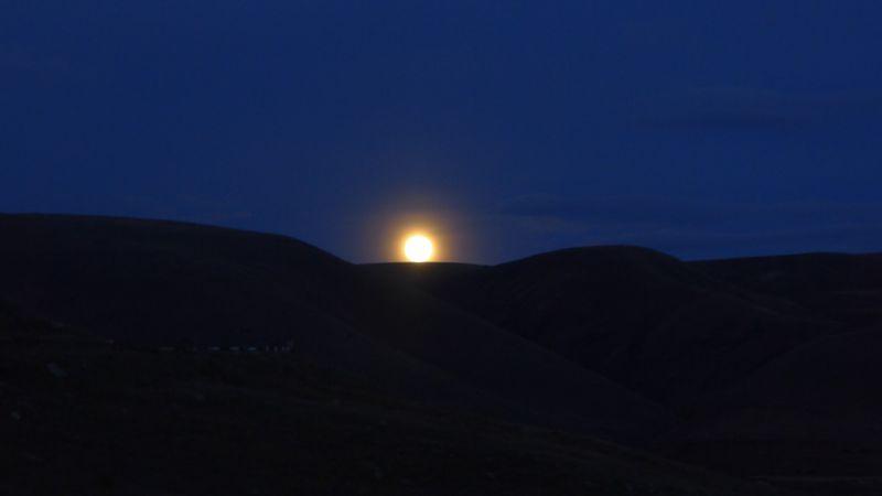 Moonrise at the Selim Pass Caravanserai along the Silk Road, Armenia