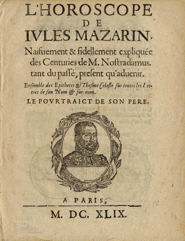 Mazarin 1665 front