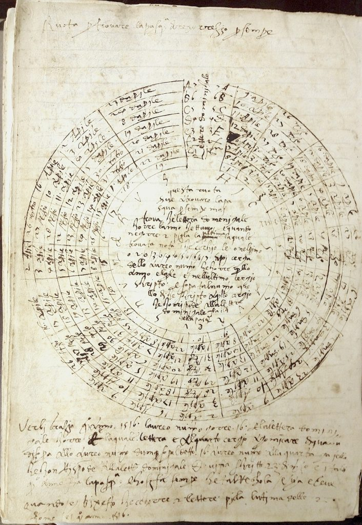 Wheel for calculating Pascha or Easter, Incunabula 322