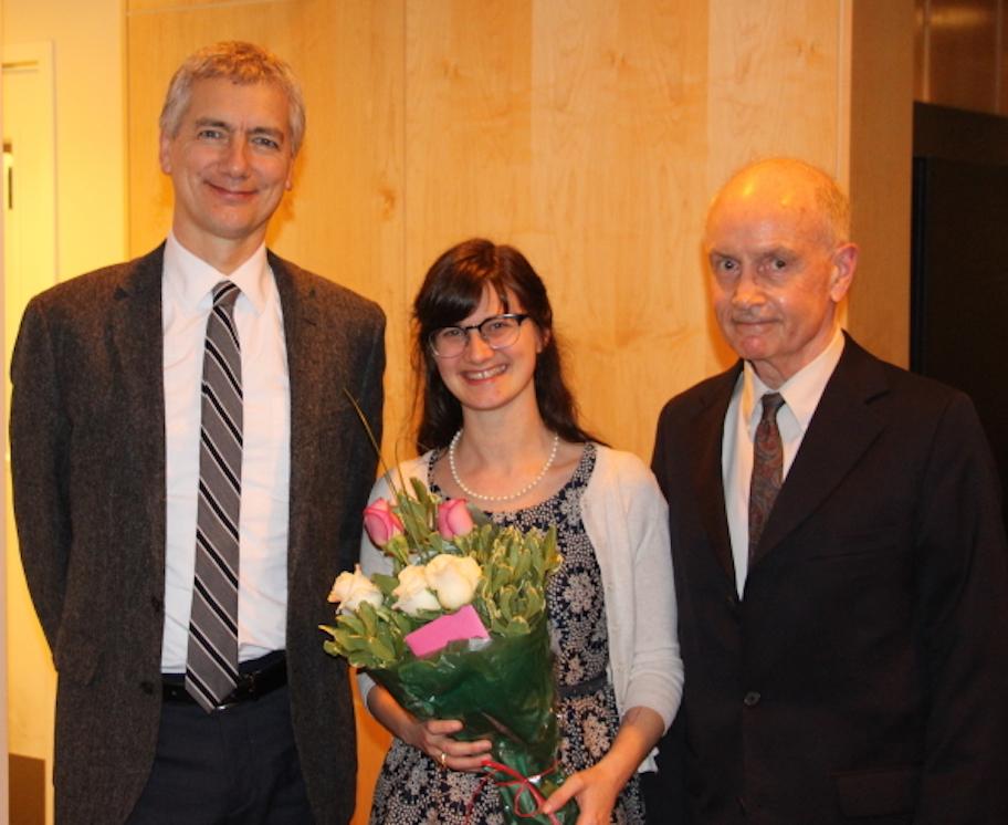 Professor Duncan Wu, Elizabeth Ott, and Professor Mark Reed