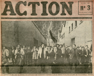 Action newspaper showing a mrch