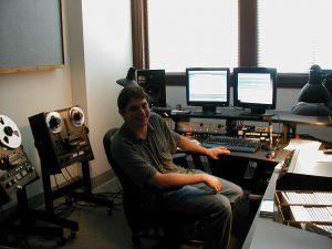 John Loy in the Rivers Studio
