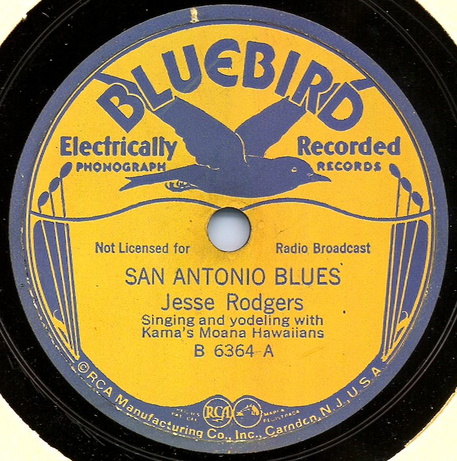 78_828_A_San Antonio Blues_Southern Folklife Collection (30001)_UNC Chapel Hill