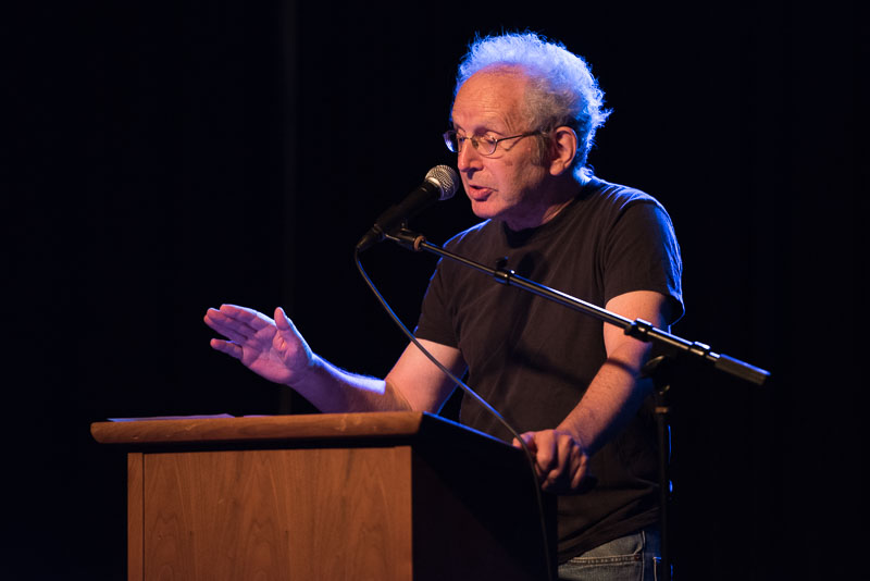 Peter Guralnick at the Cat's Cradle for SFC25. Photo by Mark Perry Photography.