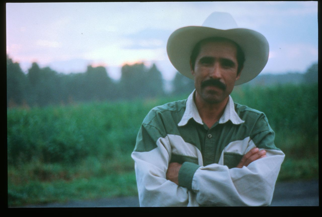 Rolando Rivera, poet, Booneville, N.C., 2001. Photo by Scott Pryor. Student Action with Farmworkers Collection (20317), Southern Folklife Collection.