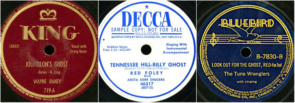 78_8747_Jole Blons Ghost_78_3979_Tennessee Hill_Billy Ghost_78_0949_Look Out for the Ghost, Red_Southern Folklife Collection_The Wilson Library_UNC Chapel Hill