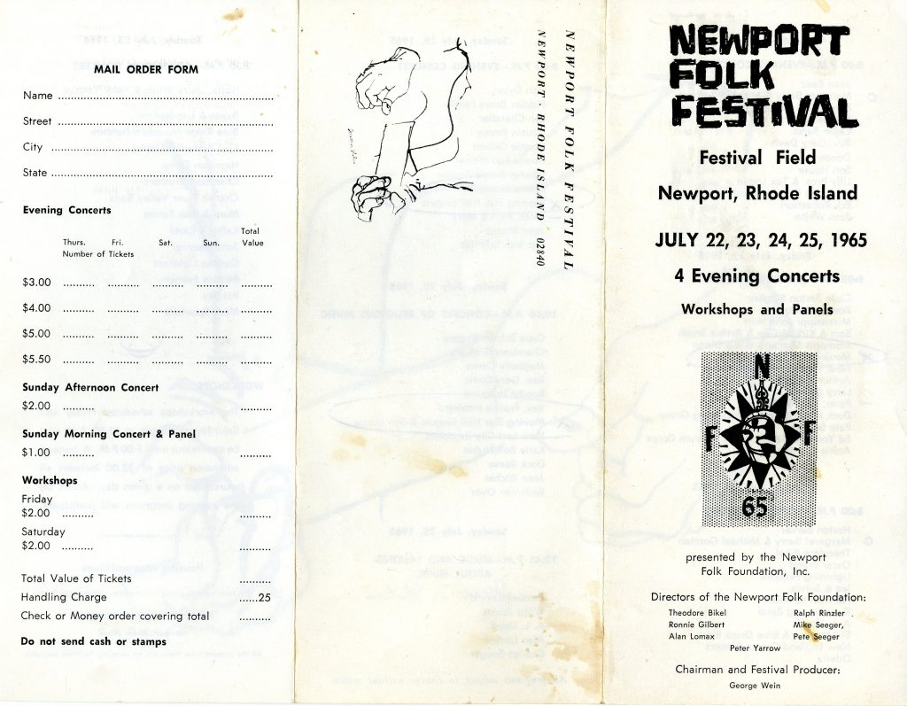 20008_0172_Newport1965_schedule__002_Guy and Candie Carawan Collection_20008_Southern Folklife Collection_The Wilson Library_UNC Chapel Hill
