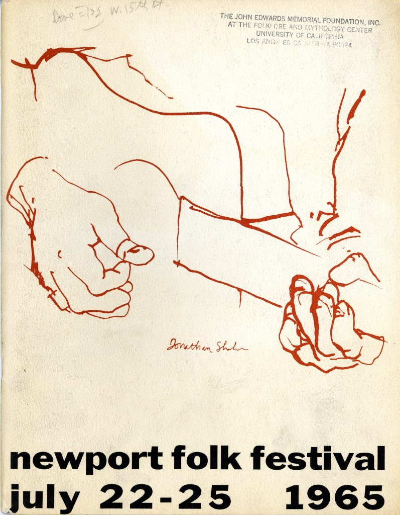 30007_0518_Newport1965_program_cover_Southern Folklife Collection Festival Files_30007_The Wilson Library_UNC Chapel Hill