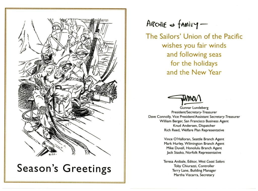 20002_ArchieGreenPapers_F3823_Holiday Cards_Sailors Union of the Pacific_Southern Folklife Collection_01