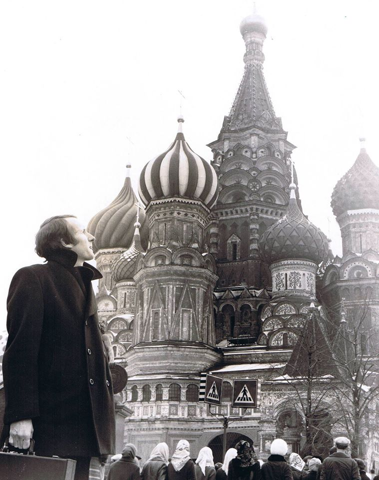 """The International Ambassador of Country Music"" (BILLBOARD MAGAZINE) in Red Square, Moscow, Soviet Union, March 1974."