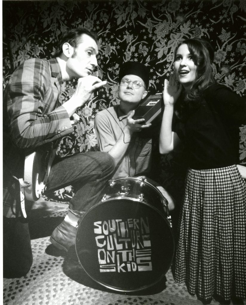 Southern Culture on the Skids, Rick Miller, Dave Schmidt, and Mary Huff, photo by Kent Thompson, in the D. Kent and Sue Meyer Thompson Collection 20479
