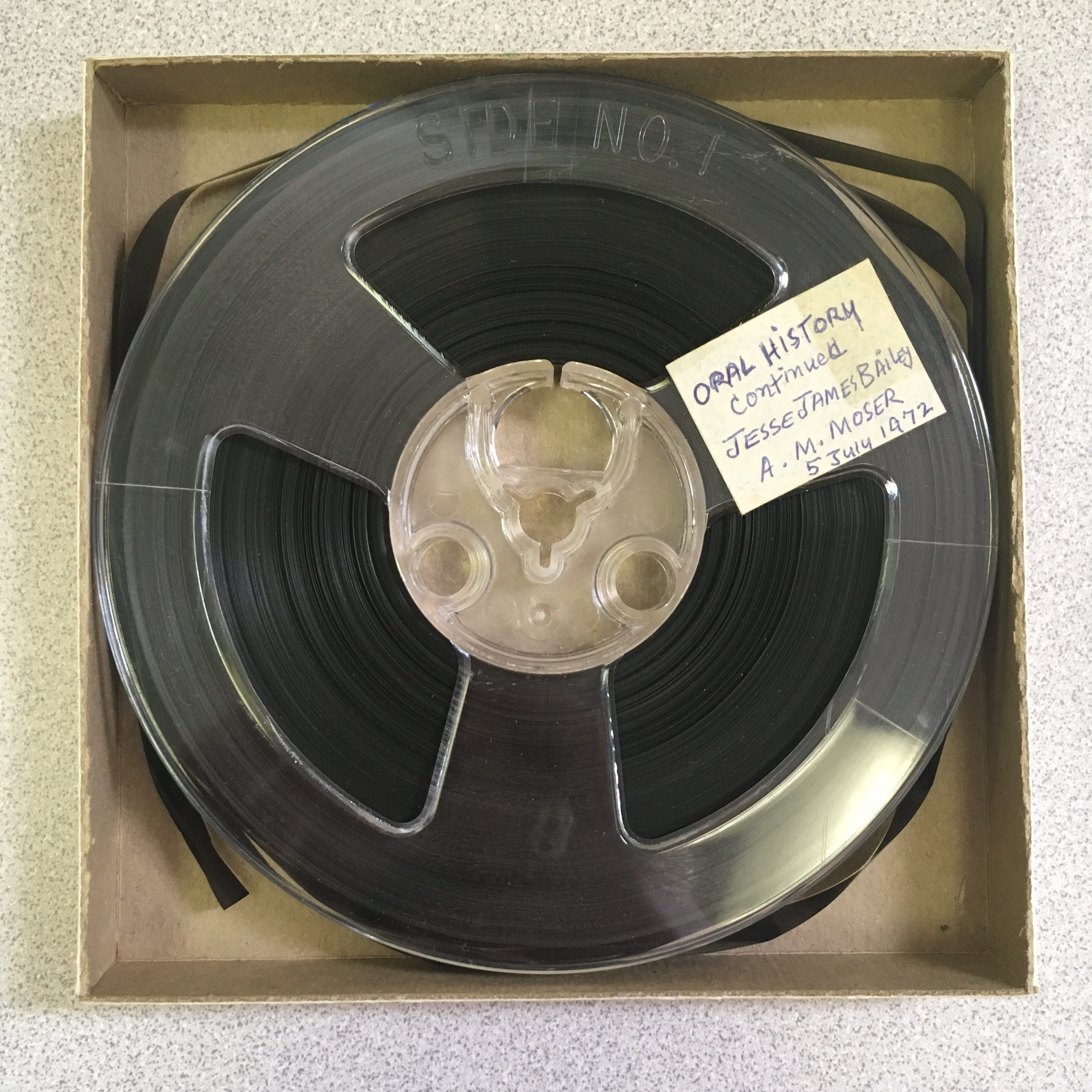 open reel from Joan Moser Collection
