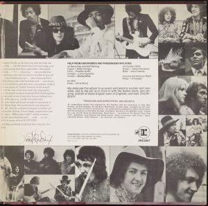jimi hendrix experience, electric ladyland right gatefold, b&w collage w/ text