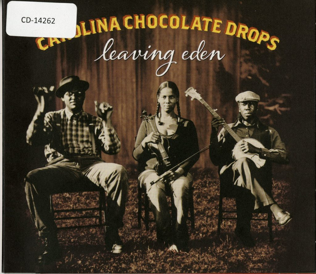 CD Cover, Carolina Chocolate Drops seated with instruments, sepia-toned to appear old